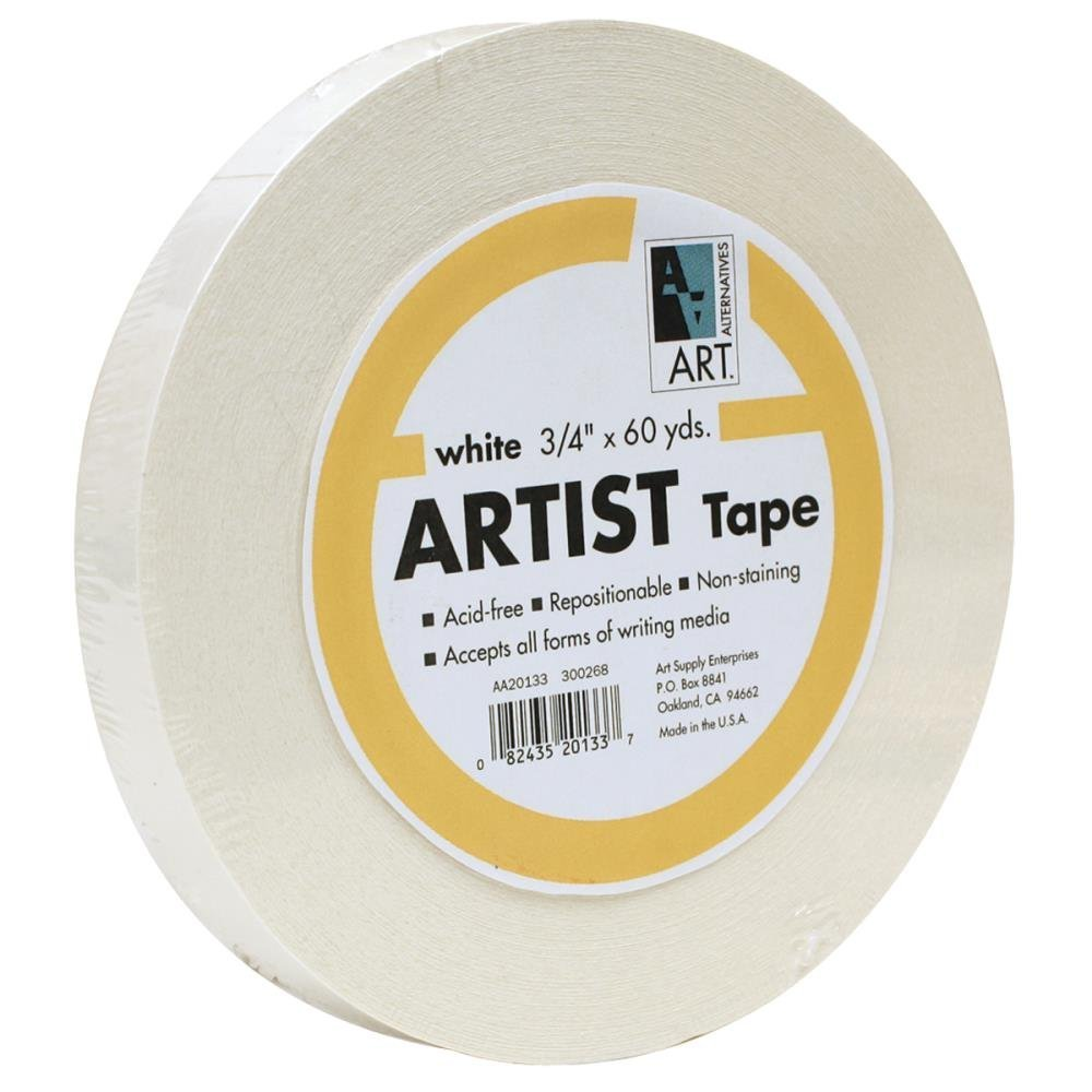 Economy White Artists Tape 3/4In X 60Yds by Art Alternatives