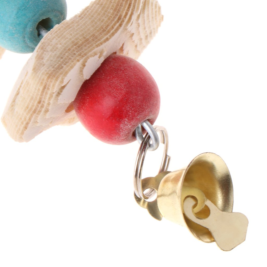 Manyo Parrot Teeth Grinding Toys Bird Squirrel Cuttlefish Bone Chewing Beads With Bell