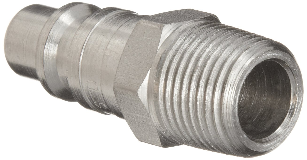 3//8 Coupling x 3//8 NPT Male Plug Dixon DCP25S Stainless Steel 303 Air Chief Industrial Interchange Quick-Connect Hose Fitting