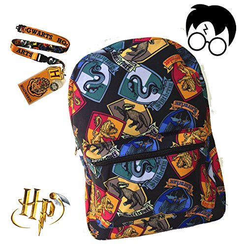 Harry Potter Hogworts School Backpack Luggage Bag with Lanyard