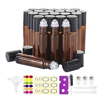 Amazon.com: 12 botellas de 10 ml para aceites esenciales ...