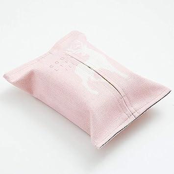 SHUCHANGLE Simple Geométrica Rosa Algodón Tejido Caja Salón Creativa Bolsa Toallas,E