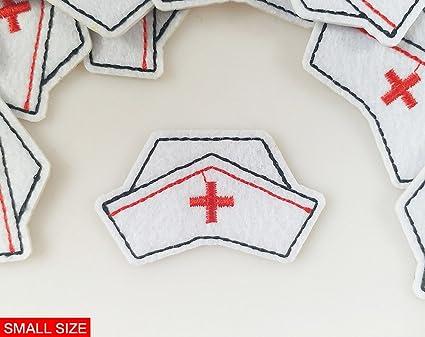 Nurse Cap Applique Patch 3-Pack, Small, Iron on