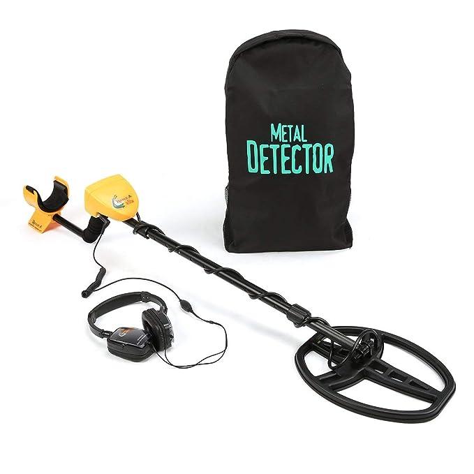 JohnJohnsen Detector de Metales subterráneo Profesional MD6350 Buscador de buscadores de Oro Treasure Hunter con Pantalla LCD para Auriculares (Negro y ...