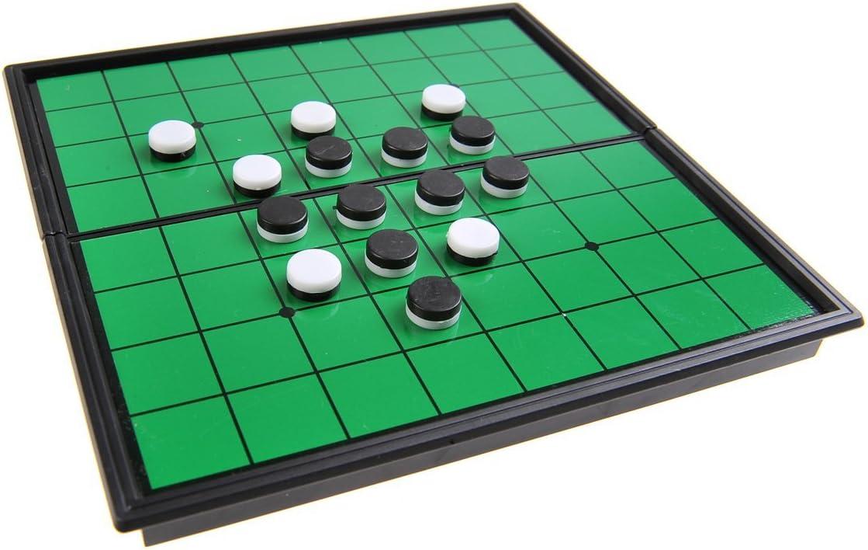 Quantum Abacus Juego de Mesa magnético (versión Super Mini de Viaje): Reversible / Oshello - Piezas magnéticas, Tablero Plegable, 13cm x 13cm x 1, 2cm, Mod. SC52500 (DE): Amazon.es: Juguetes y juegos