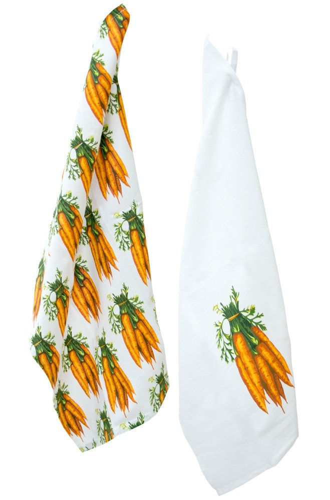 Celebrate the Home URB18245 Tea Towels, Set of 2, Carrots