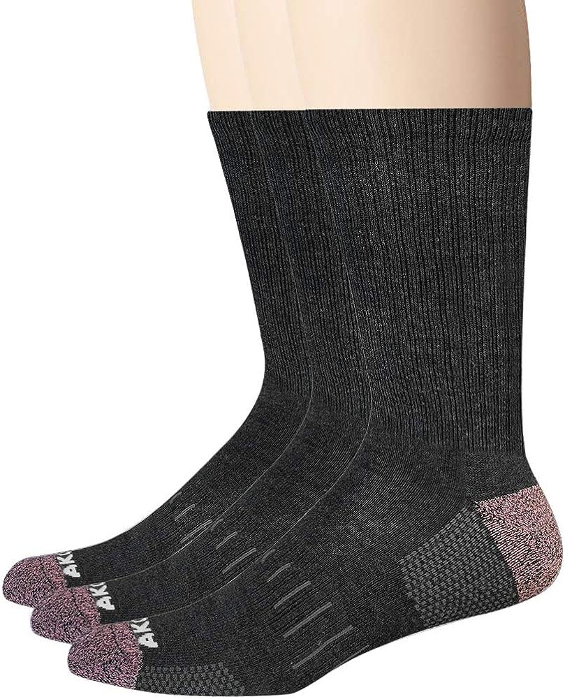 3 Pack AKOENY Mens Athletic Cushion Crew Socks for Work Running Athletics