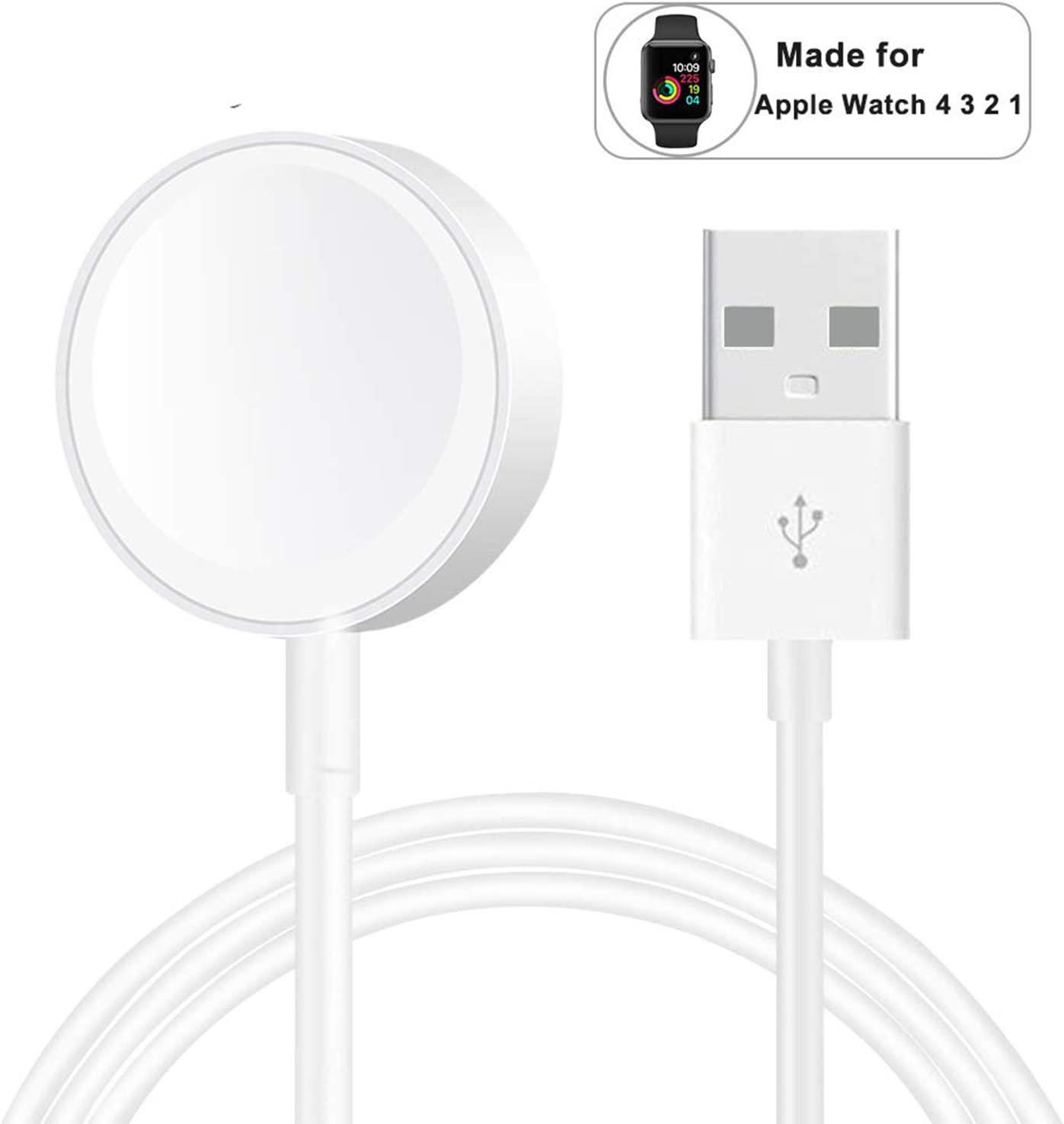 Compatible with iWatch Apple Watch Charger for Series 5/4/3/2/1 -Newest Smart Watch Charger Magnetic Charging Cord