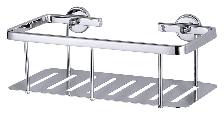 Mensola per doccia tesa Aluxx, alluminio cromato lucido, autoadesiva, tecnologia adesiva di montaggio, 92mm x 250mm x 125mm 40202-00000-00