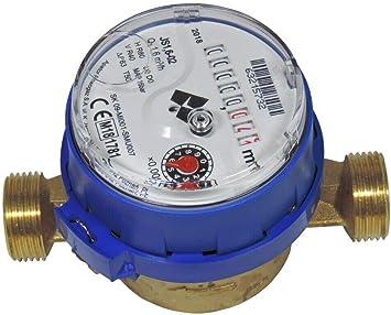 Wasserzahler 1 2 Anschlussgewinde 3 4 Kaltwasserzahler Q3 1 6m 30 C Baulange 110mm Amazon De Baumarkt