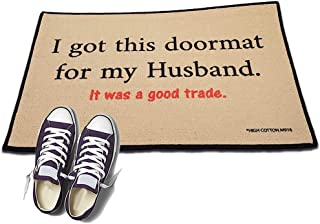 product image for HIGH COTTON I got This Doormat for My Husband. It was a Good Trade Welcome Doormat