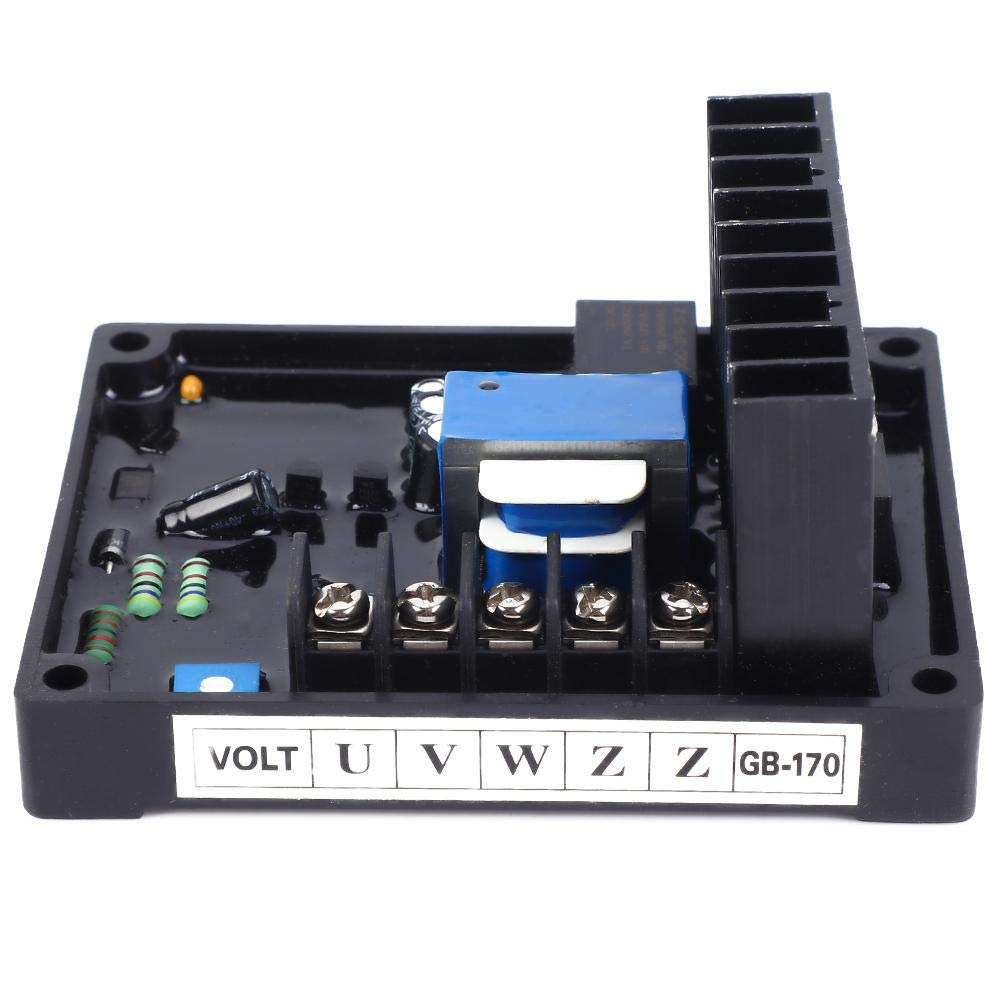 GB170 AVR Voltage Control Board for Brush Three Phase STC Alternator 10A Partial Current 20-100VDC Exciting Voltage Automatic Voltage Regulator