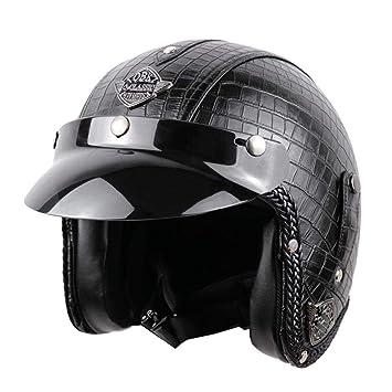 Matefielduk Casco de Moto bicicleta del interruptor de la cara de la motocicleta abierta de los
