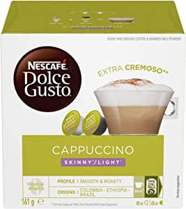NESCAFE Dolce Gusto Skinny Cappuccino Coffee Pods, 16 Capsules (8 Serves), 161g
