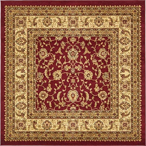 Unique Loom Voyage Collection Traditional Oriental Classic Red Square Rug 6 0 x 6 0