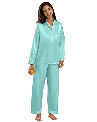 National Women's Brushed Back Satin Pajamas - Misses, Womens at ...