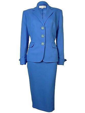 Amazon Com Evan Picone Women S Classic Time Carrer Blazer And Skirt
