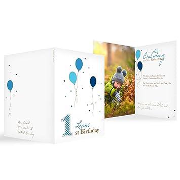 PERSONALISIERTES FOTO Erstens Geburtstagsparty EINLADUNGSKARTEN inklusive
