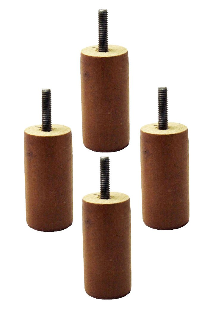 """3"""" Tall Walnut Replacement Wooden Sofa Legs (Set Of 4"""