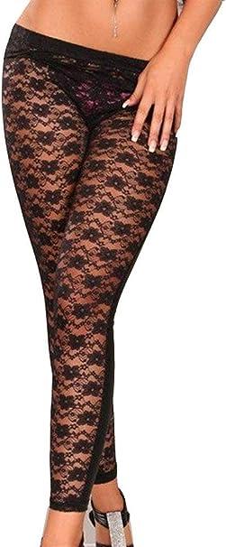 HX fashion Pantaloni in Pizzo da Donna Leggings Pantaloni in Pelle Chic Pu Pantaloni in Similpelle Pantaloni A Matita Pantaloni Sottili A Coste Elasticizzate Ragazza