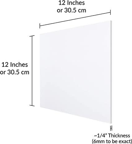 """Perfect for Making Signs Laser Engraving and Cutting 4 Pack 12 x 12 Acrylic Plexiglass Sheet Sturdy and Versatile 3mm DIY Craft Pr Clear Acrylic Square Blanks with Protecttive Film 1//8/"""" Thick"""