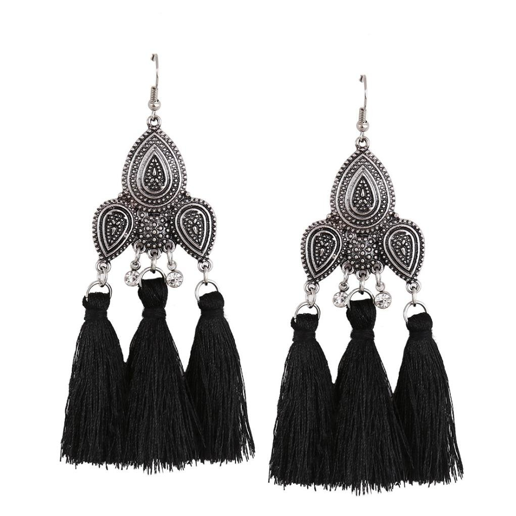 Paymenow Girls Bohemia Vintage Dangle Drop Big Statement Earrings for Women Retro Hook Dangle Earrings Jewelry Women Earring