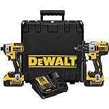 DEWALT DCK299P2  20V MAX XR Lithium Ion Brushless Premium Hammerdrill & Impact Driver Combo Kit, 5.0 Ah