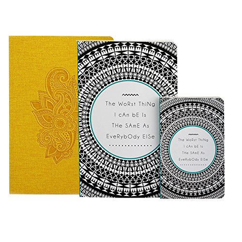 Doodle Set of 2 Notebooks- Rosette Yellow & Be Yourself