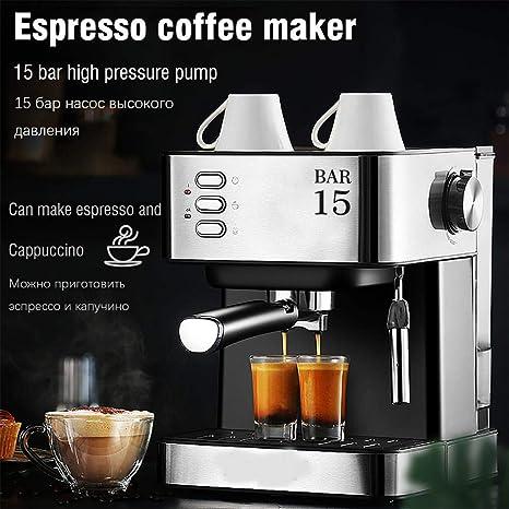 LWQ Máquina de café eléctrica de café, Express Cafetera Cafetera ...