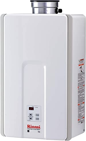 Rinnai V94IN Tankless Hot Water Heater, 9.8 GPM, V94iN-Natural Gas/9.4 GPM