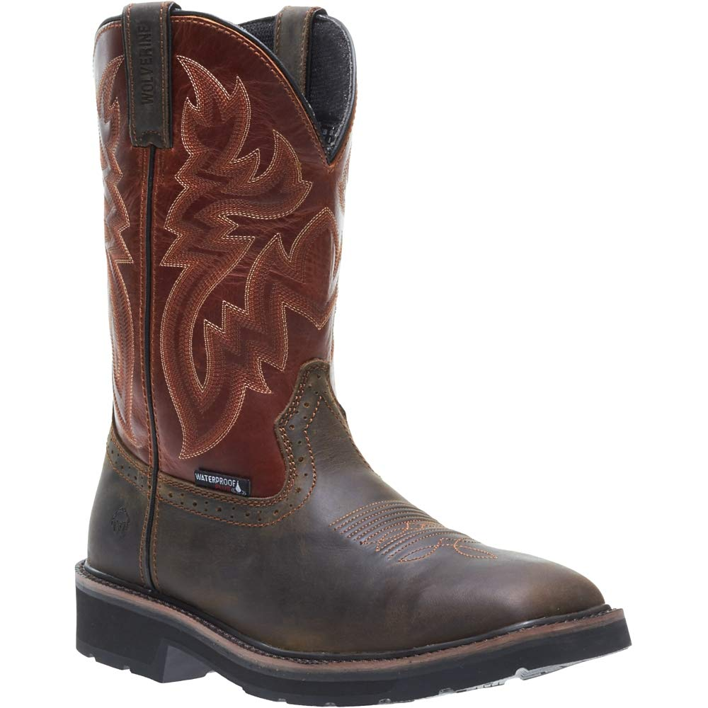 Wolverine Men's Rancher Wpf Soft Toe Wellington Work Boot,Rust/Brown,10 D US by Wolverine (Image #4)