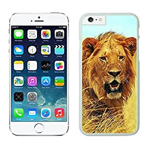 Apple Iphone 6 Case 4.7 Inches, Coolest Lion Animal Design White Hard Phone Case Cover for Iphone 6