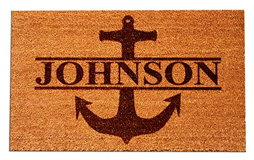 Personalized [Your Name] Coir Fiber Laser Engraved Doormat 30