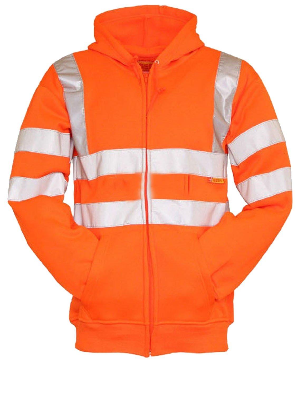 Forever High Visibility Hi Vis Safety Hooded Sweatshirt Top