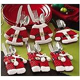 Portaposate Costume da Babbo Natale, Natale, decorazione per tavolo Style-2