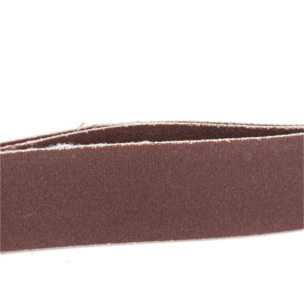 belupai 3pcs 762x25mm 240 grit AL ossido abrasivo nastri abrasivi per lavori di rettifica del legno