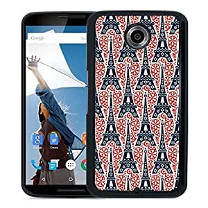 Eiffel Tower Pattern Google Nexus 6 Phone Case On Sale