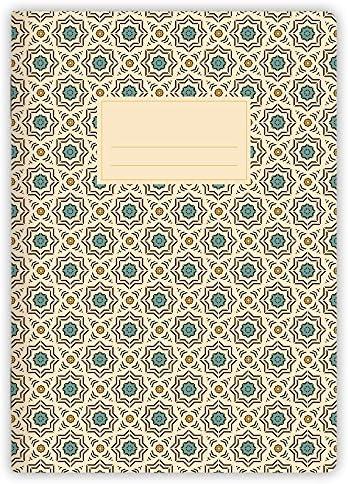 etmamu 526 Notizheft Muster Marokko Nr. 1 A5, 32 Blatt liniert