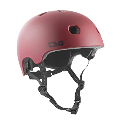 TSG Meta Skate & Bike Helmet in Satin Oxblood w/Dial Fit System | for Cycling, BMX, Skateboarding, Rollerblading, Roller Derby, E-Boarding, E-Skating, Longboarding, Vert, Park, Urban : Sports & Outdoors