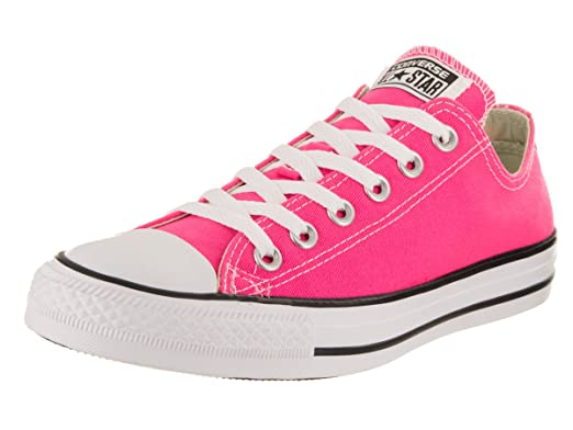 Converse Unisex Chuck Taylor All Star Low Top Pink Pow Sneakers - 10.5 B(M