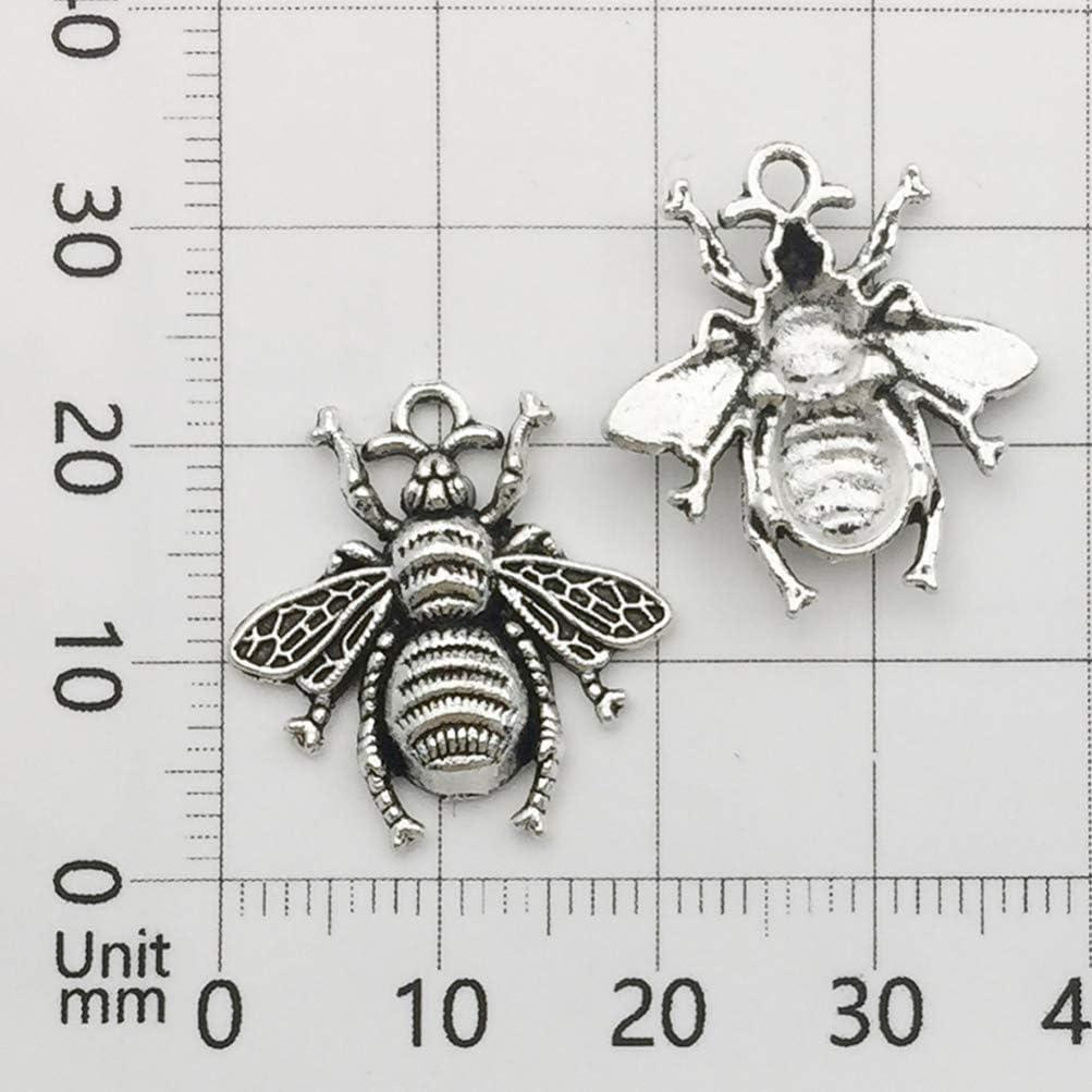 Healifty 80pcs Antique Breloques en Argent Abeille r/étro Faisant des Breloques en Alliage Animaux pendentifs pour Collier Bracelet Bricolage Artisanat