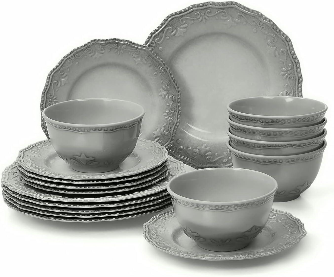 TP Dinnerware Set 18-Piece Dishes Service Cheap super special price Dinner Melamine Phoenix Mall