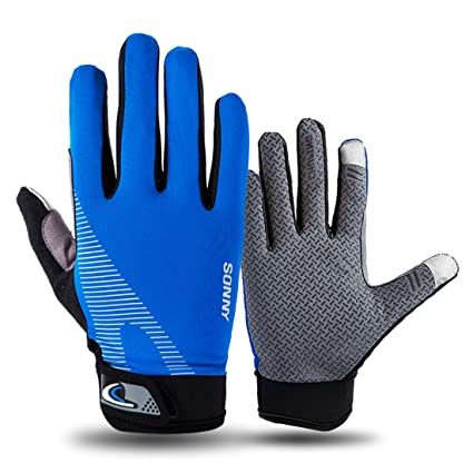Antiskid Gel Paded MTB Bike Bicycle Sports Racing Cycling Full Finger Gloves