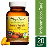 MegaFood - Turmeric Strength for Joint, Curcumin Support for a Healthy Inflammation Response and Comfortable Joints with Devil's Claw and Ginger Root, Vegan, Gluten-Free, Non-GMO, 20 Tablets (FFP)