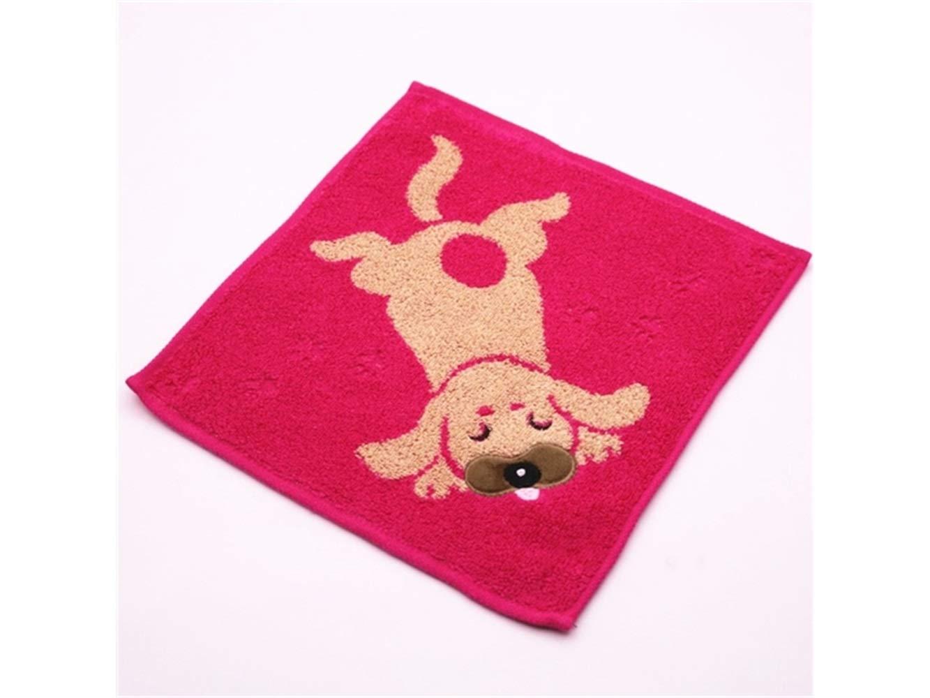 PanpA Suave Perro de dibujos animados de algodón absorbente Toalla de bebé toalla de lavado Toalla de cara espesa toalla de niños cuadrados (azul): ...