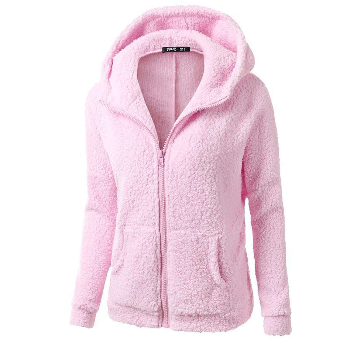 iQKA Women Plus Size Casual Hooded Sweatshirt Coat Full Zipper Hoodie Thick Outwear iQKA0726