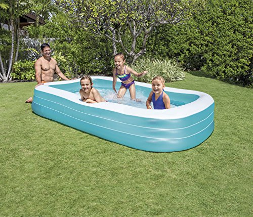 Images videos Intex swim center family pool cover