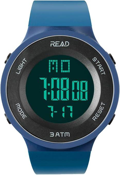 Reloj Deportivo, Impermeable, Cronógrafo, Alarma, Fecha automática, Cronómetro, Calendario Completo, Resistente al Agua, Luz de Fondo