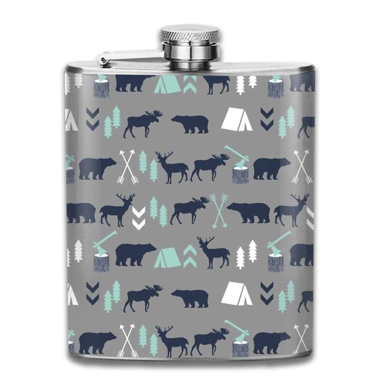 dfegyfr Men and Women Thick Stainless Steel Hip Flask 7 OZ