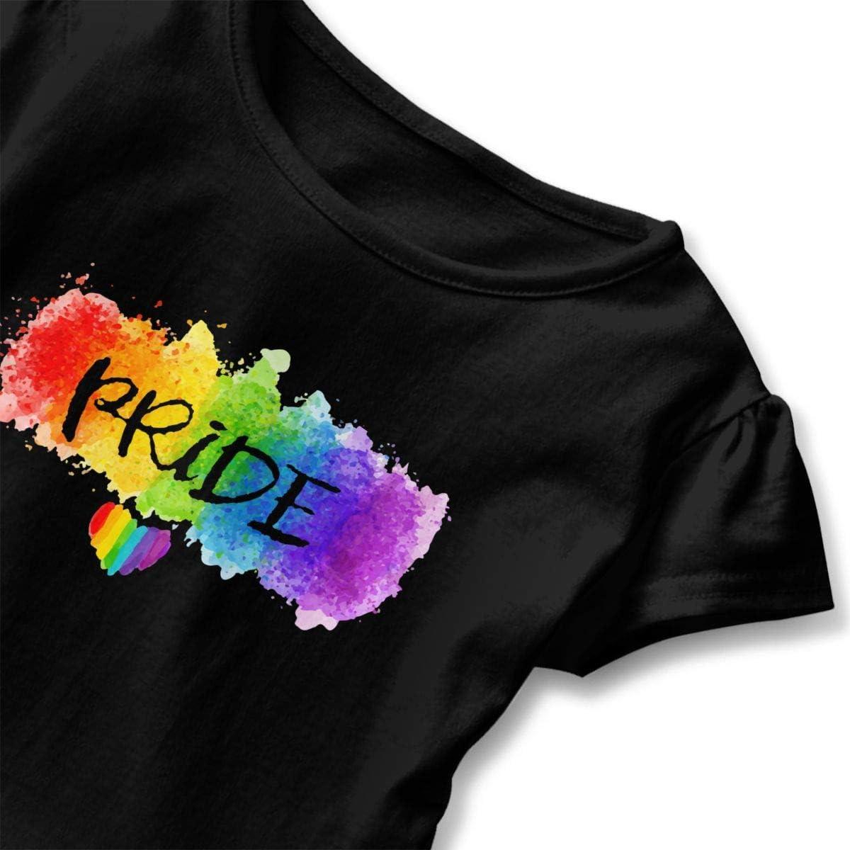 26NSHIRT LGBT Pride Baby Girls Short Sleeve Cotton T-Shirts